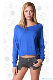 Crop Long Sleeve Pullover