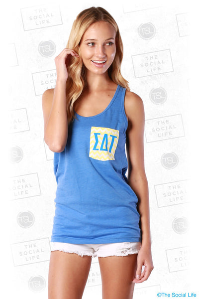 Color Contrast Pocket Tank