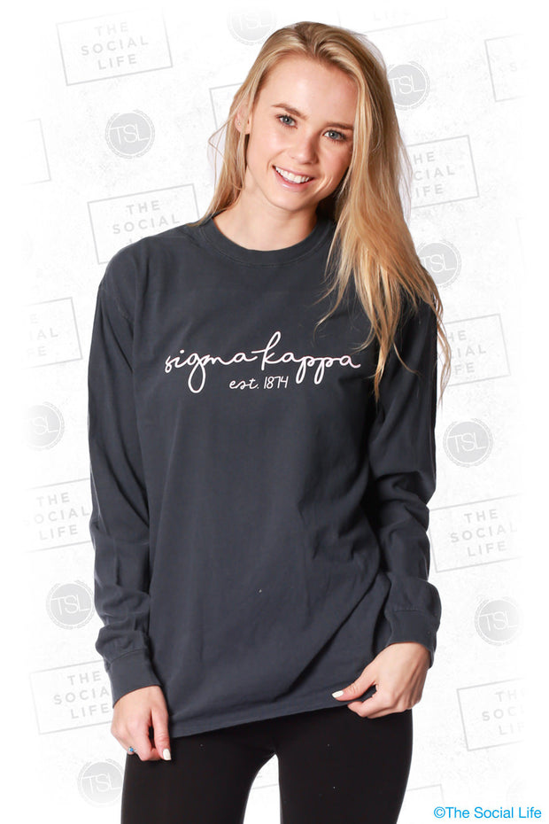 Sigma Kappa Scripted Long Sleeve