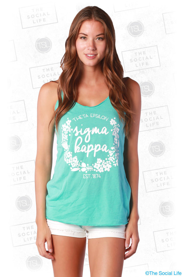 SK Floral Wreath Tank