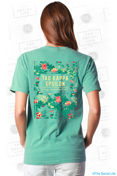 Tau Kappa Epsilon Plumeria Recruitment Tee