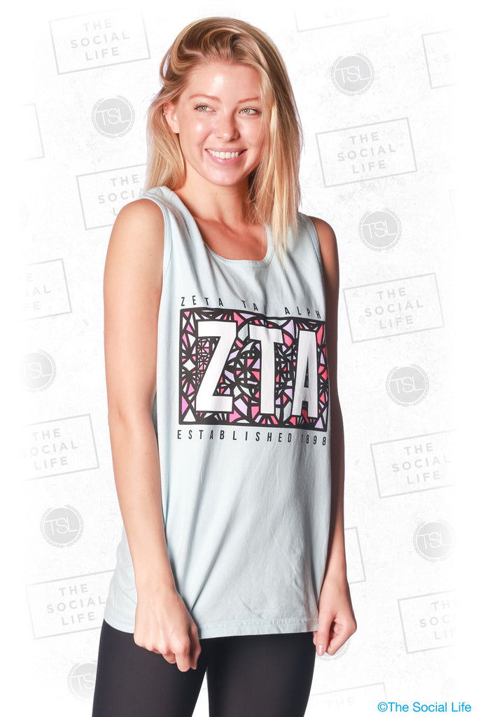 Delta Gamma Stained Glass Tank