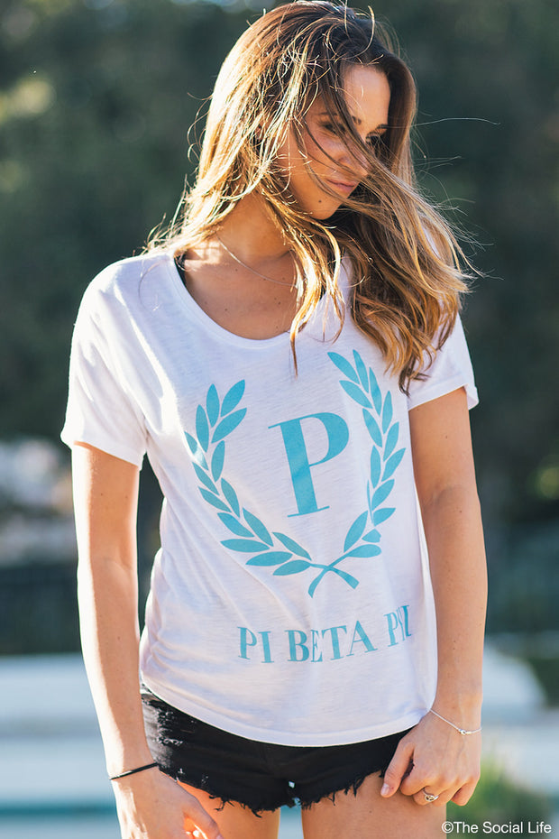 Pi Phi Flowy Simple Tee
