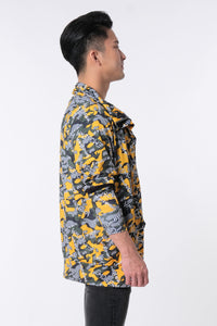 LOGOMANIA Contemporary Camo Printed Jacket