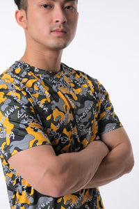LOGOMANIA Contemporary Camo Short Sleeve Tee