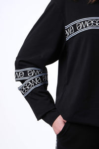 ID NIGHT BLACK OVERSIZED HOODIE