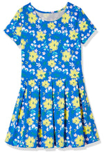 Load image into Gallery viewer, Emosewa Girls Short Sleeve Allover Floral Print Dress