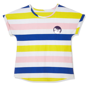 Emosewa Girls Short Sleeve Tee With Graphic