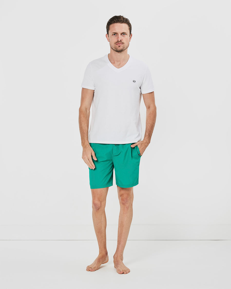 Basic Board Shorts in Green