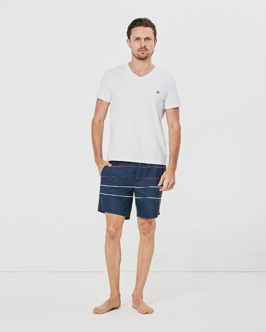 +Plus Parallel Board Shorts in Navy