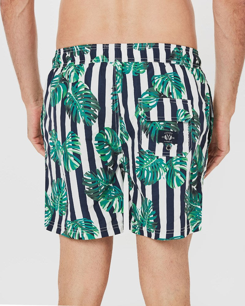 Stripe Leaf Board Short
