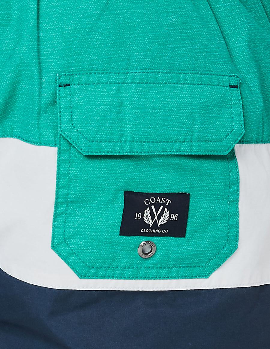 Panel Stripe Board Short in Green