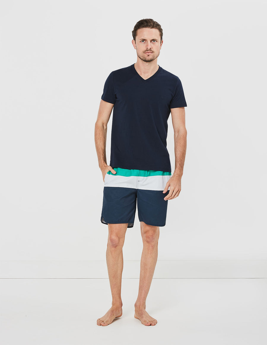 Panel Stripe Board Shorts