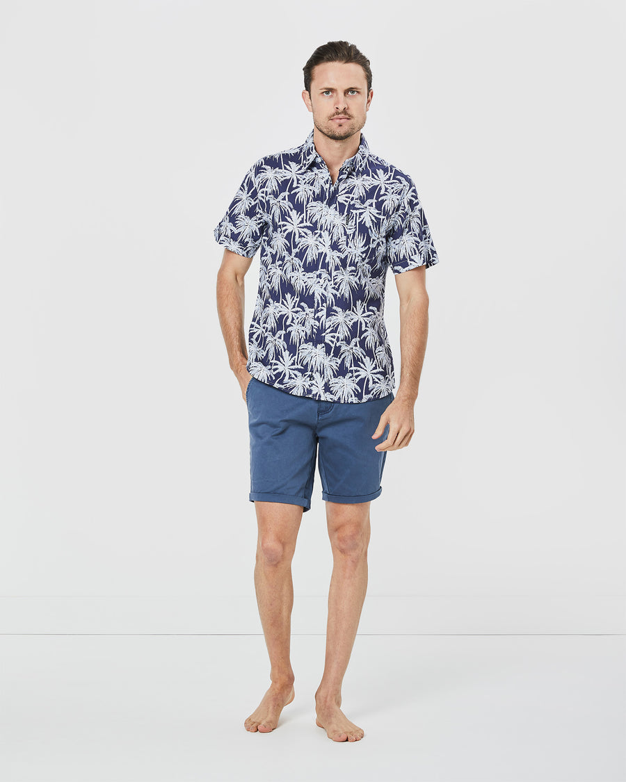 Short Sleeve Beach Palms Shirt