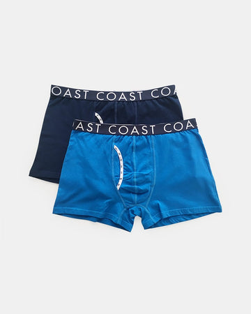 2 Pack Long Boxers Cobalt & Navy