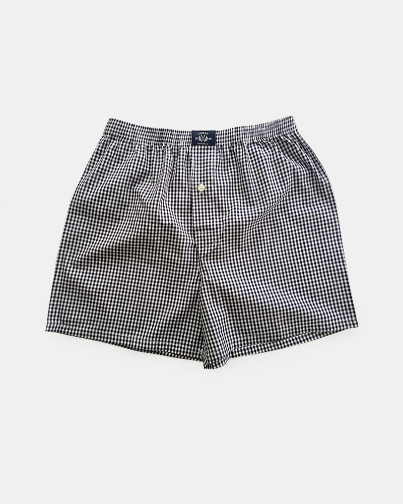 Woven Check Boxers 2 PK in Grey