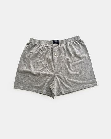 Single Knit Boxer Short in Grey Marle