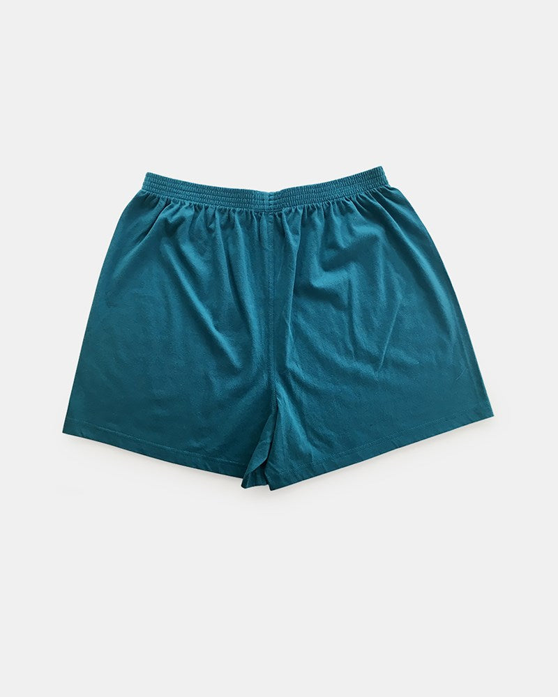 Single Knit Boxer Short in Green