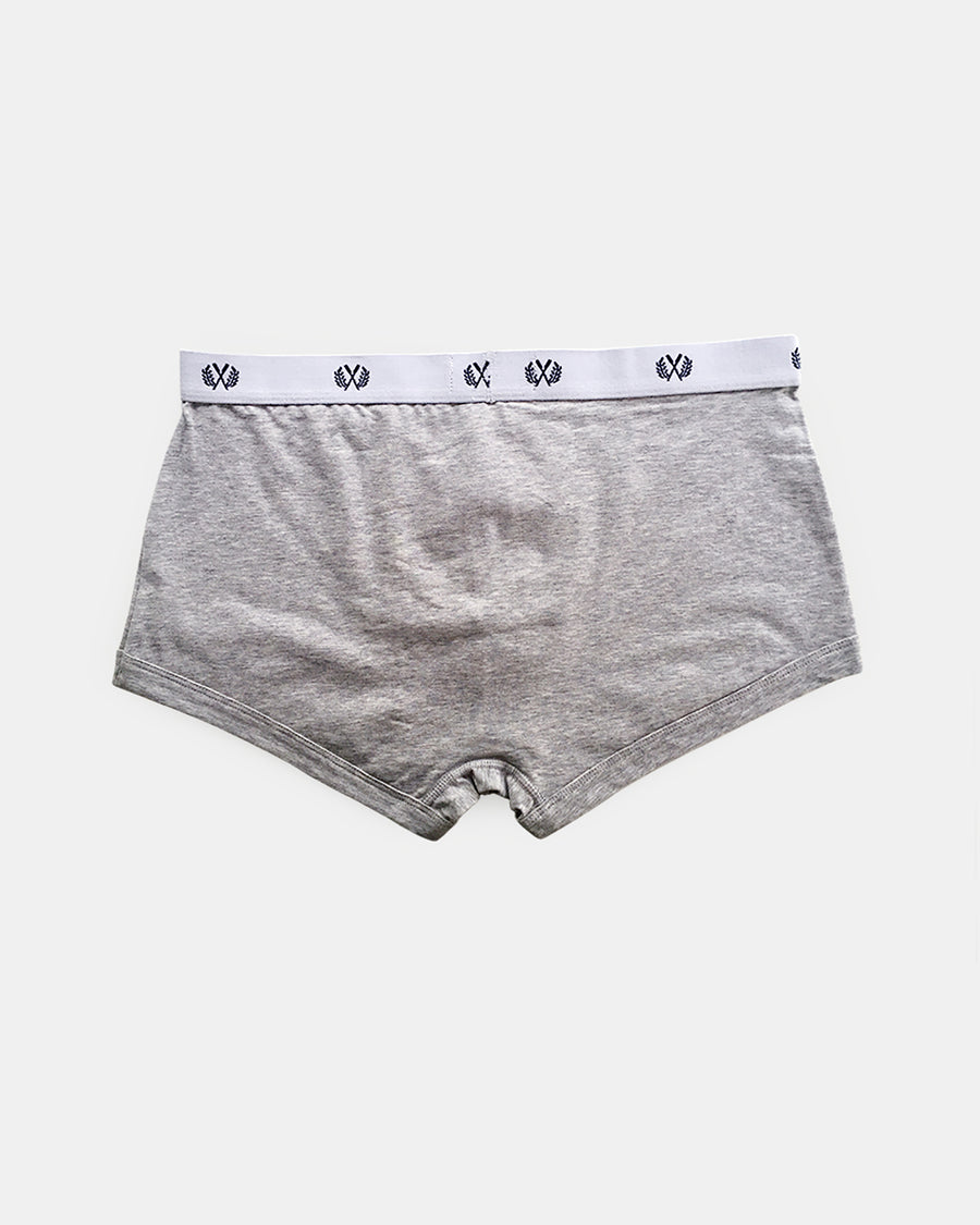 Mens Short Boxer 2 PK Black and Grey