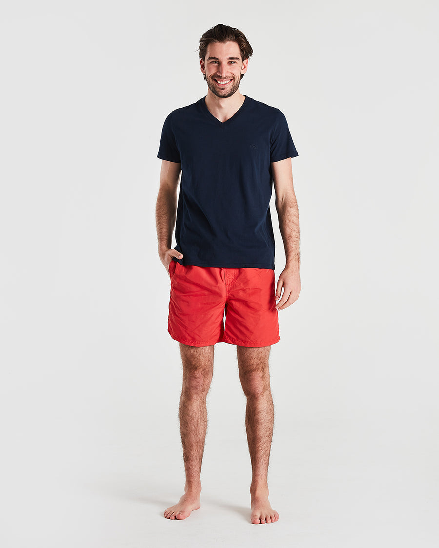 Basic Board Shorts in Red