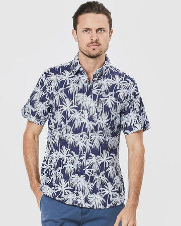 Beach Palms Poplin Shirt