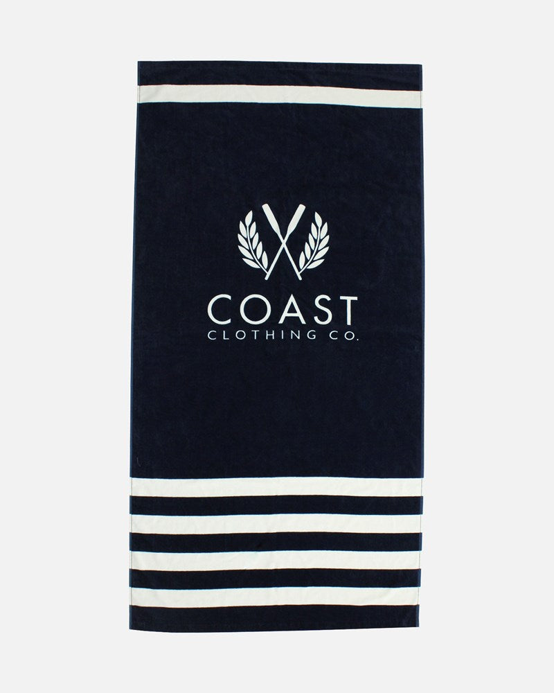 Coast Towel In Navy And White