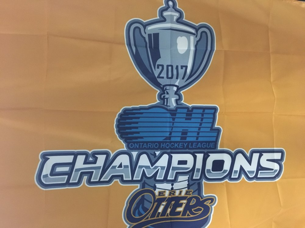 Erie Otters 3x5 Championship Flag