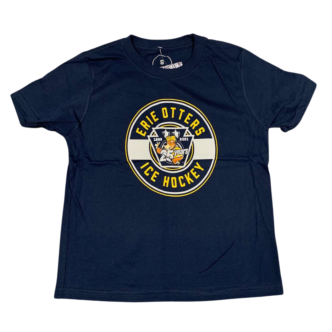 Youth Erie Apparel 25th Anniversary Circle Logo T-Shirt