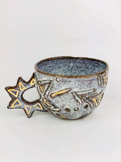 Handmade Sun and Moon Ceramic Cup