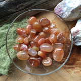 Small tumbled carnelian stones