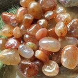 Small carnelian tumbled stones