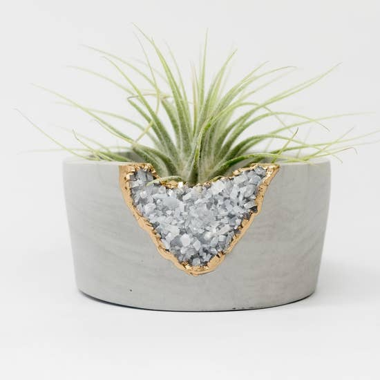 Blue Calcite Mini Planter