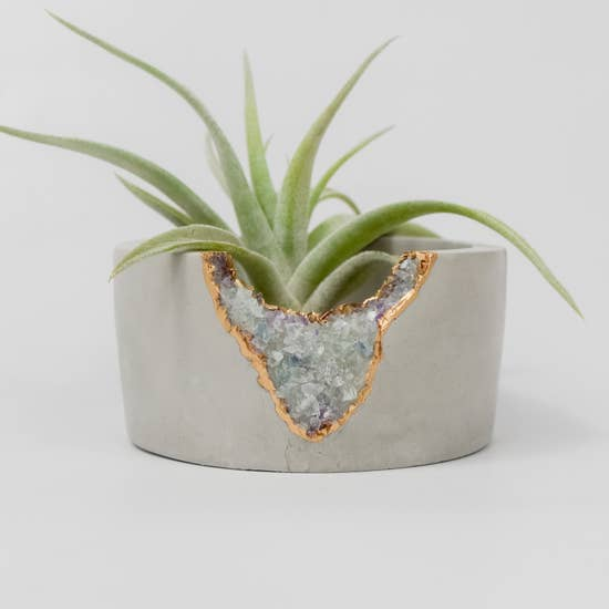 Fluorite Calcite Mini Planter