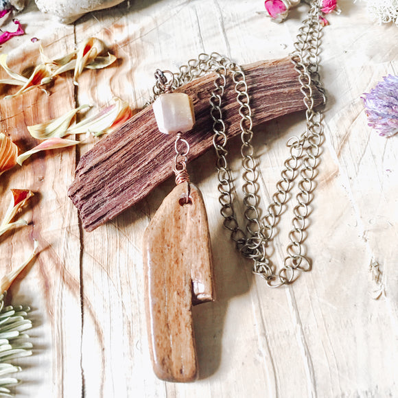 Mookaite and Driftwood Statement Necklace