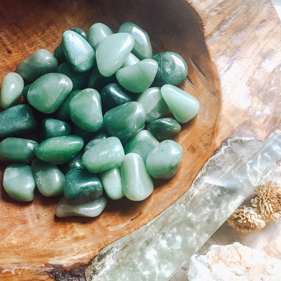 Light and Dark Green Aventurine Tumbled StoneS