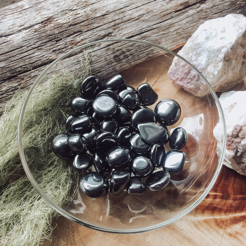 Hematite Tumbled Stone // Grounding and Earth Element Stone // Root Chakra