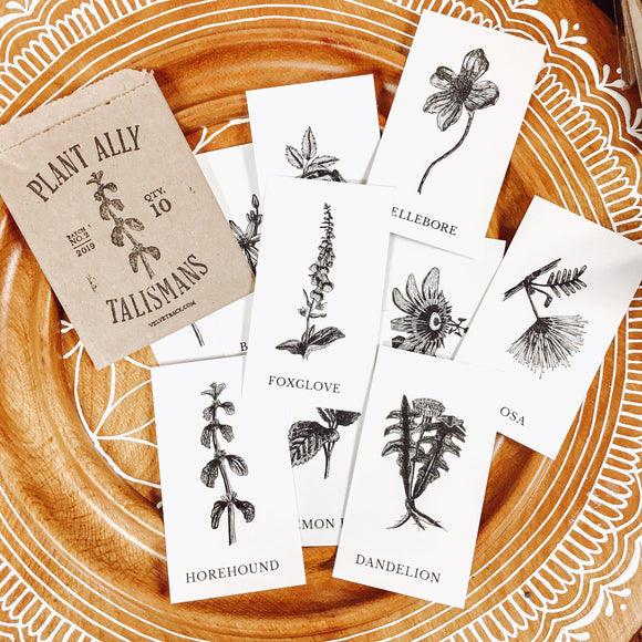 Black and White Poetry Plant Card Deck