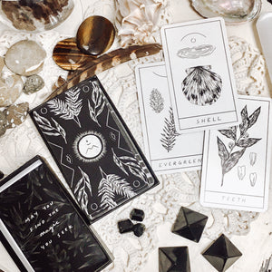 Black and White Deck of Symbols with Guidebook