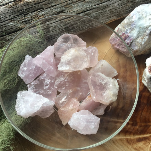 Rose Quartz Rough Piece- Heart Chakra-Relationship Stone