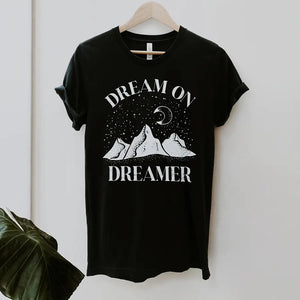 Black and White Dream on Dreamer Graphic Tee