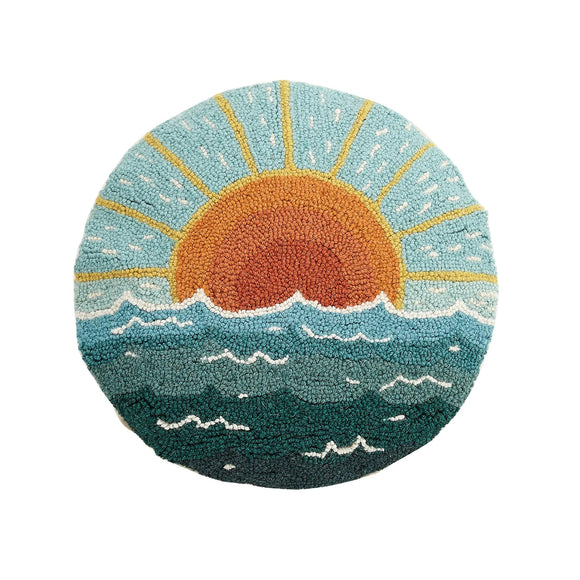 Circular Seascape Pillow