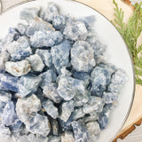 Small Blue Calcite Rough Stone