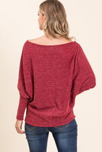 Load image into Gallery viewer, Wait For You Off Shoulder Wine Red Top