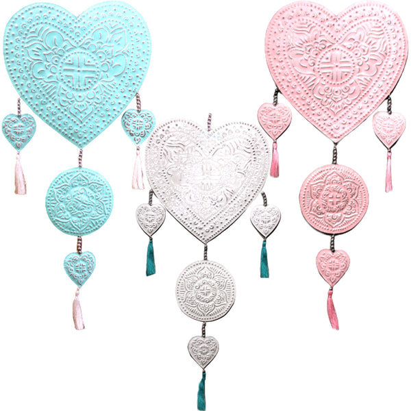 Handmade gift Wall decor Aluminium Mobile - Hearts