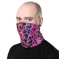Neon Lights Neck Gaiter Face Covering for Men & Women Made On Demand