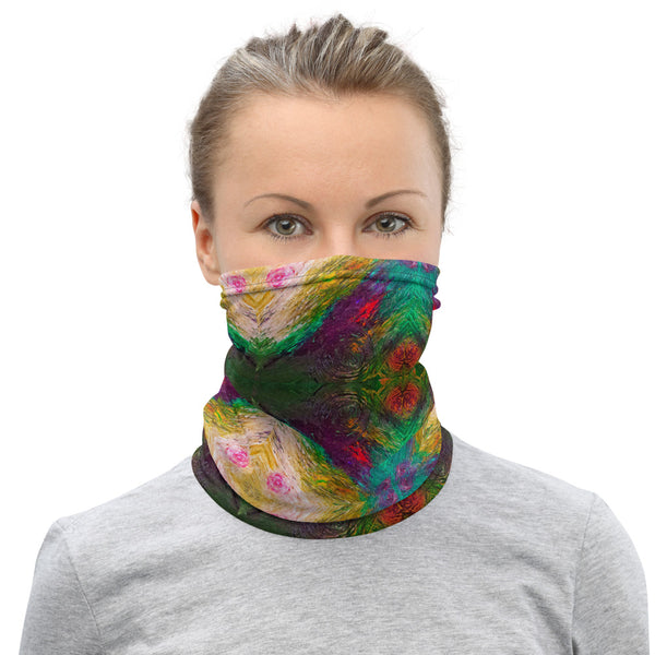 Abstract Neck Gaiter Face Covering for Men & Women Made On Demand
