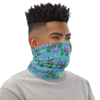 Blue Seascape Neck Gaiter Face Covering for Men & Women Made On Demand