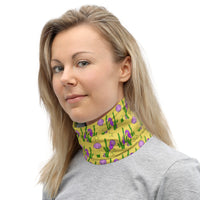 Yellow Seascape Neck Gaiter Face Covering for Men & Women Made On Demand