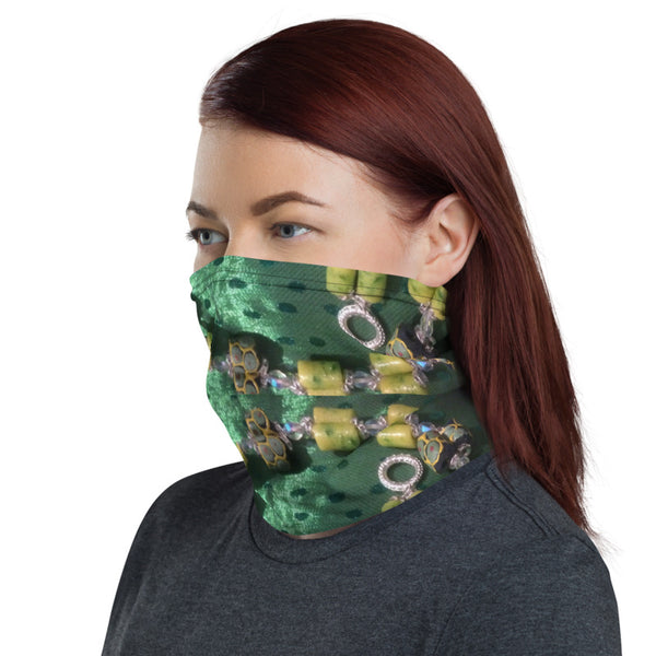 Krobo Chain Neck Gaiter Face Covering for Men & Women Made On Demand