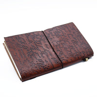 Handmade Leather Journal-Notebook - Be the Change - Brown Vintage Gift